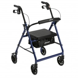 Rollator 4-wheel With Pouch...
