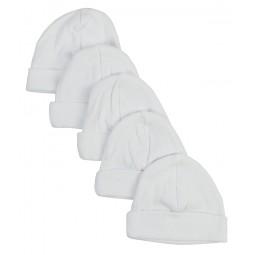 White Baby Cap (pack Of 5)