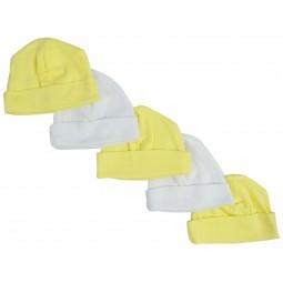 Yellow & White Baby Caps...