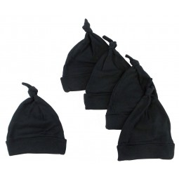 Black Knotted Baby Cap...
