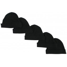 Black Baby Cap (pack Of 5)