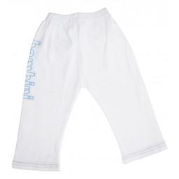 Boys White Pants With Print