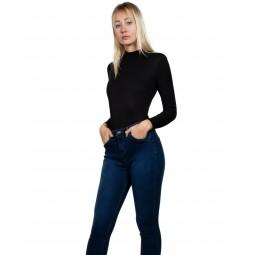 Beverly Zip-Up Ribbed Bodysuit