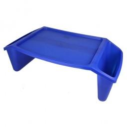 Bed Tray W-side Pockets  Blue