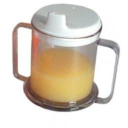 Mug Double-handed W-lid