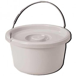 Commode Pail With Lid 7.5...