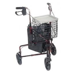 Rollator 3-wheeled W-pouch...