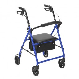Rollator With 6  Wheels Blue