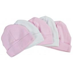 Pink & White Baby Caps...