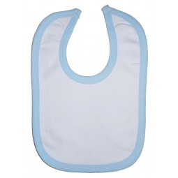 White Interlock Bib Blue...