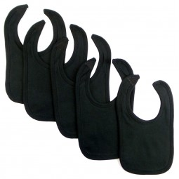 Black Interlock Bib (pack...