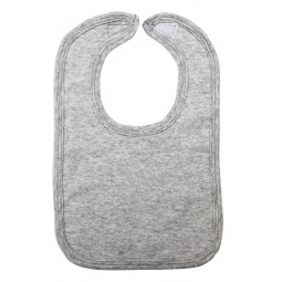 Heather Grey Interlock Bib