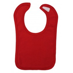 Red Interlock Bib