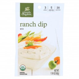 Simply Organic Ranch Dip...